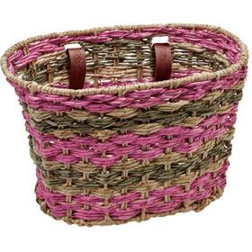 Electra Woven Palm Frond Natural Basket latte blush